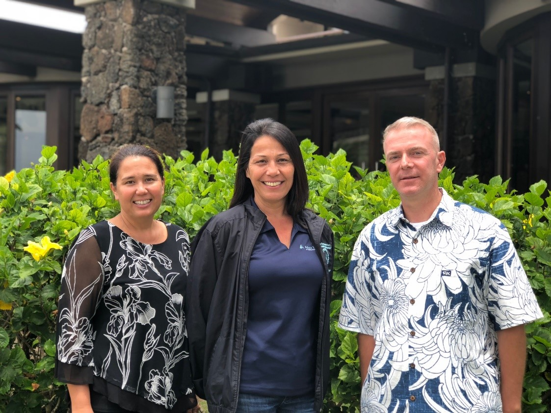 Pictured from Left:  Ann Sokei, Valerie Matias and Kevin Newton